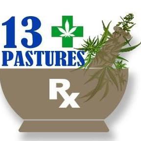 Logo for 13 Pastures, CBD oil