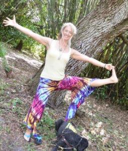 Jennifer Cleveland in a Yoga Pose