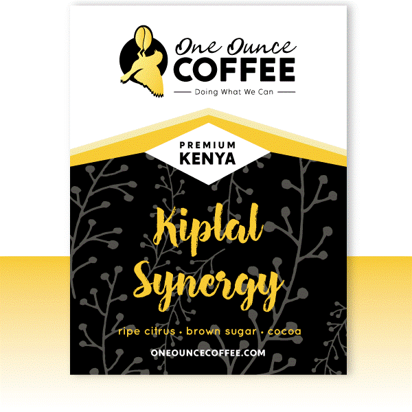 A picture of the Kiplal Synergy One Ounce Coffee from the order page.
