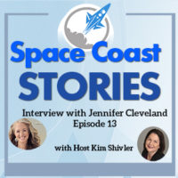 Featured image based on the Coverart from Space Coast Stories featuring a headshot of Jennifer Cleveland