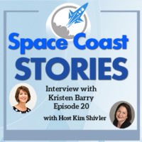 Space Coast Stories Coverart including picture of Kristen Barry