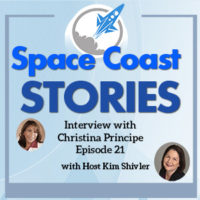 Space Coast Stories Coverart for my Interview with Christina Principe.